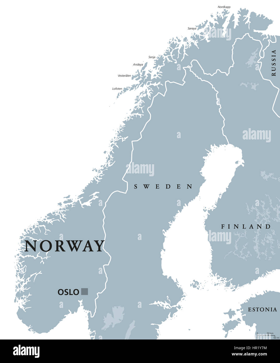 Norway political map with capital Oslo, national borders and ... on map canada, map of asia without labels, us map without labels, map no letters, map italy, map senegal,