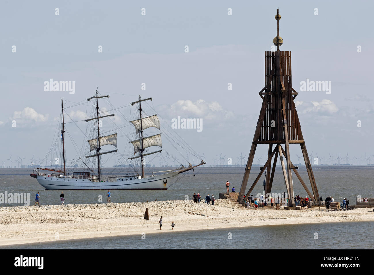 Kugelbake, Cuxhaven, Lower Saxony, Germany, Europe - Stock Image