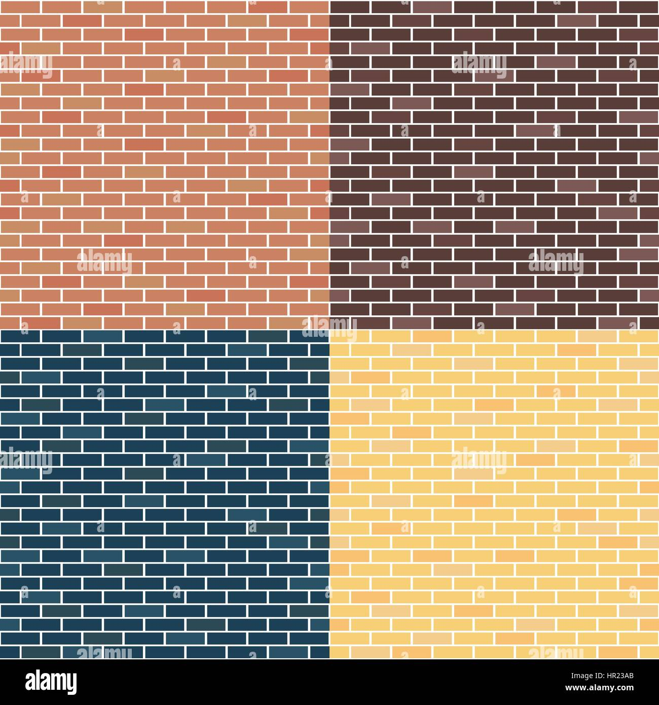 Different types of brick walls. Background of brick walls. red Stock ...