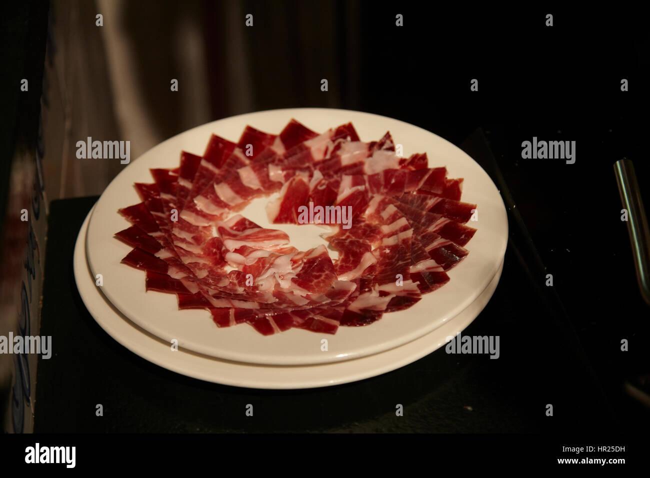 Pata negra. Spanish ham. Stock Photo