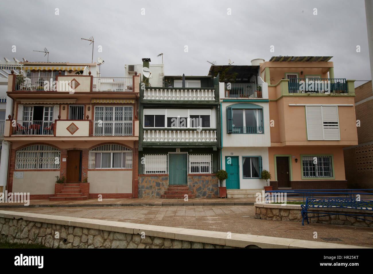 Houses in Pedregalejo, Malaga Spain - Stock Image