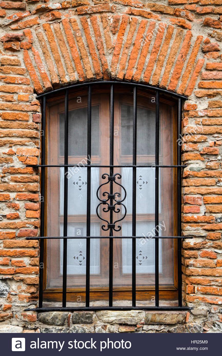 Window on old house - Stock Image