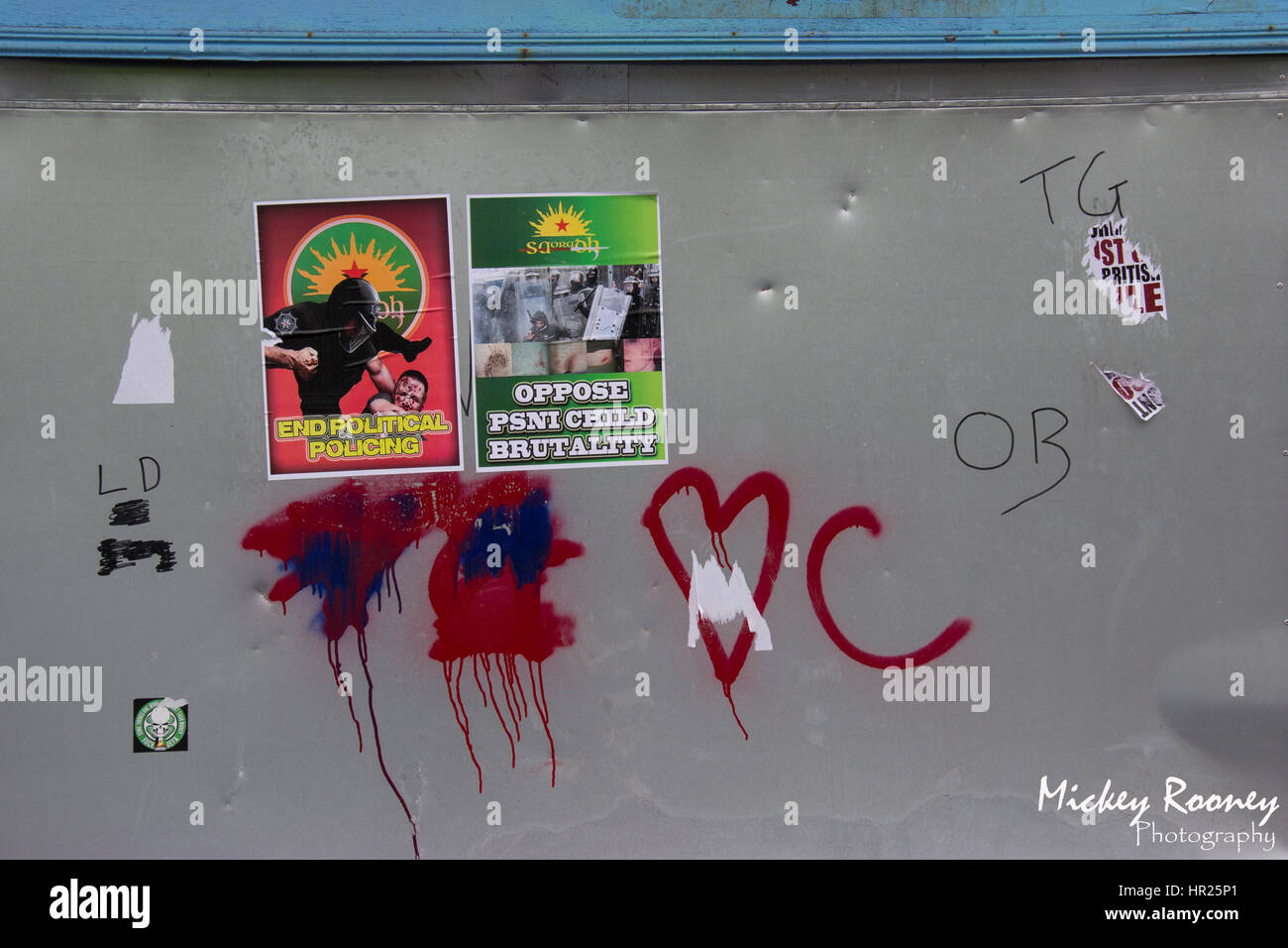 Saoraodh posters in Derry's Bogside - Stock Image