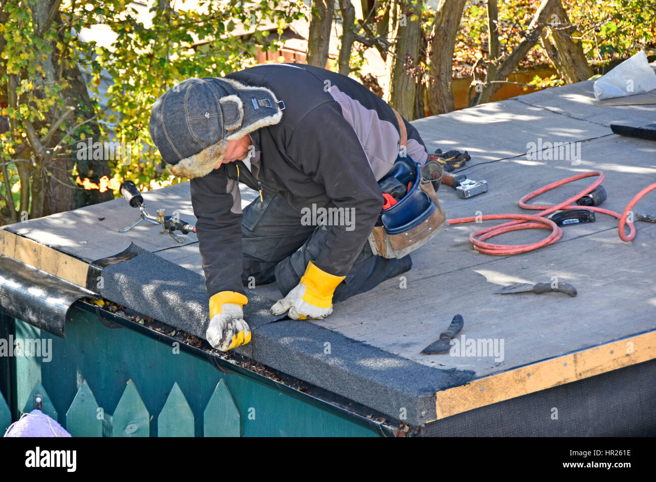 Flat Roof Felt High Resolution Stock Photography And Images Alamy