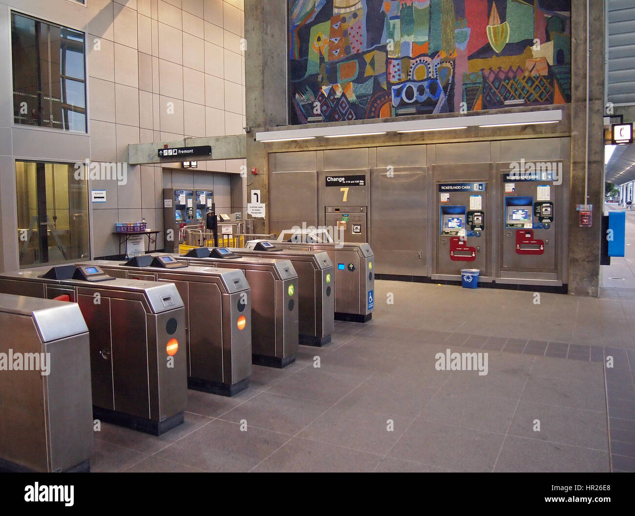 Bay Area Rapid Transit, BART, Union City , station entrance, California, USA - Stock Image