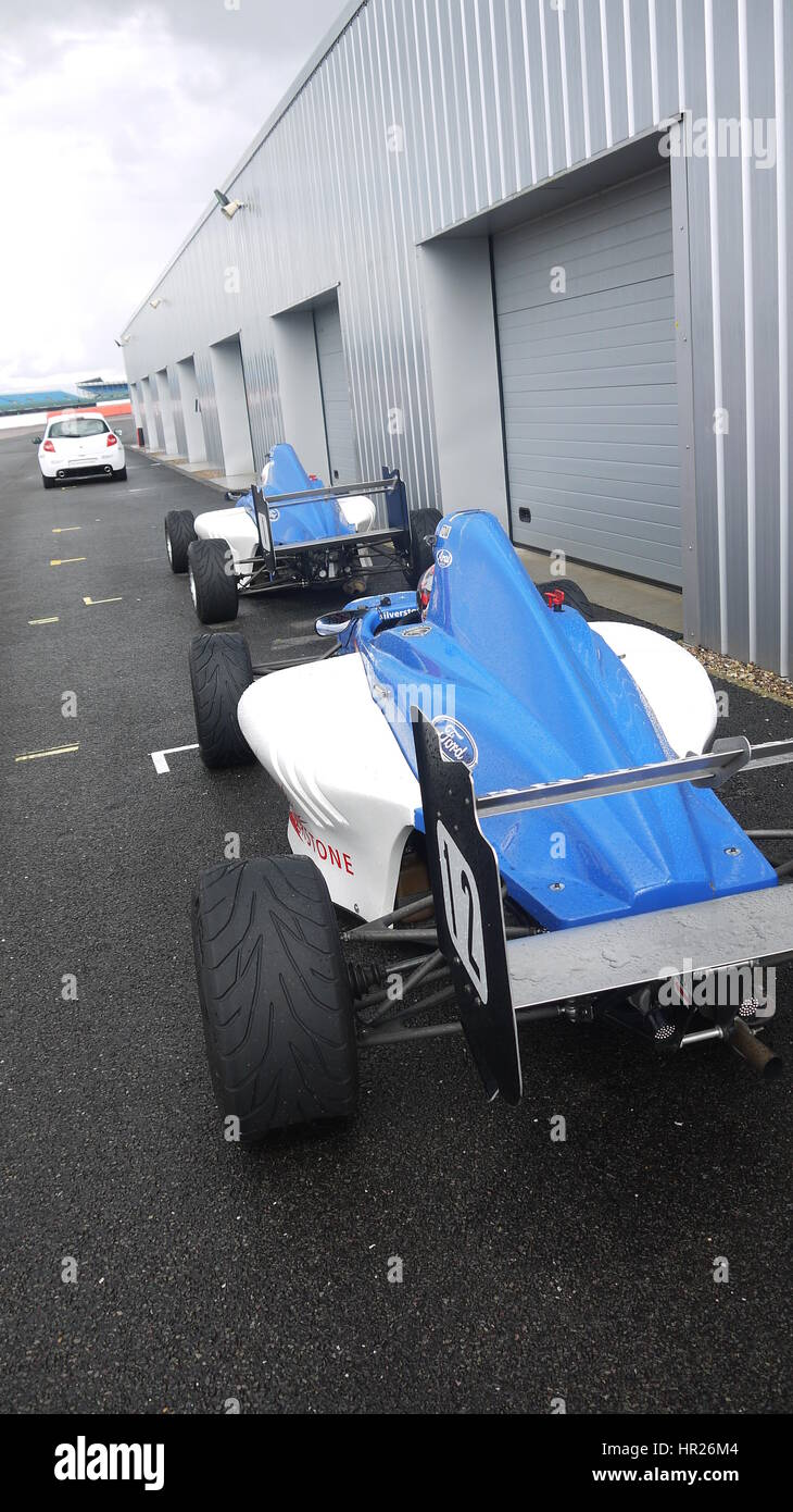 Silverstone Formula Ford Track Day Rain - Stock Image