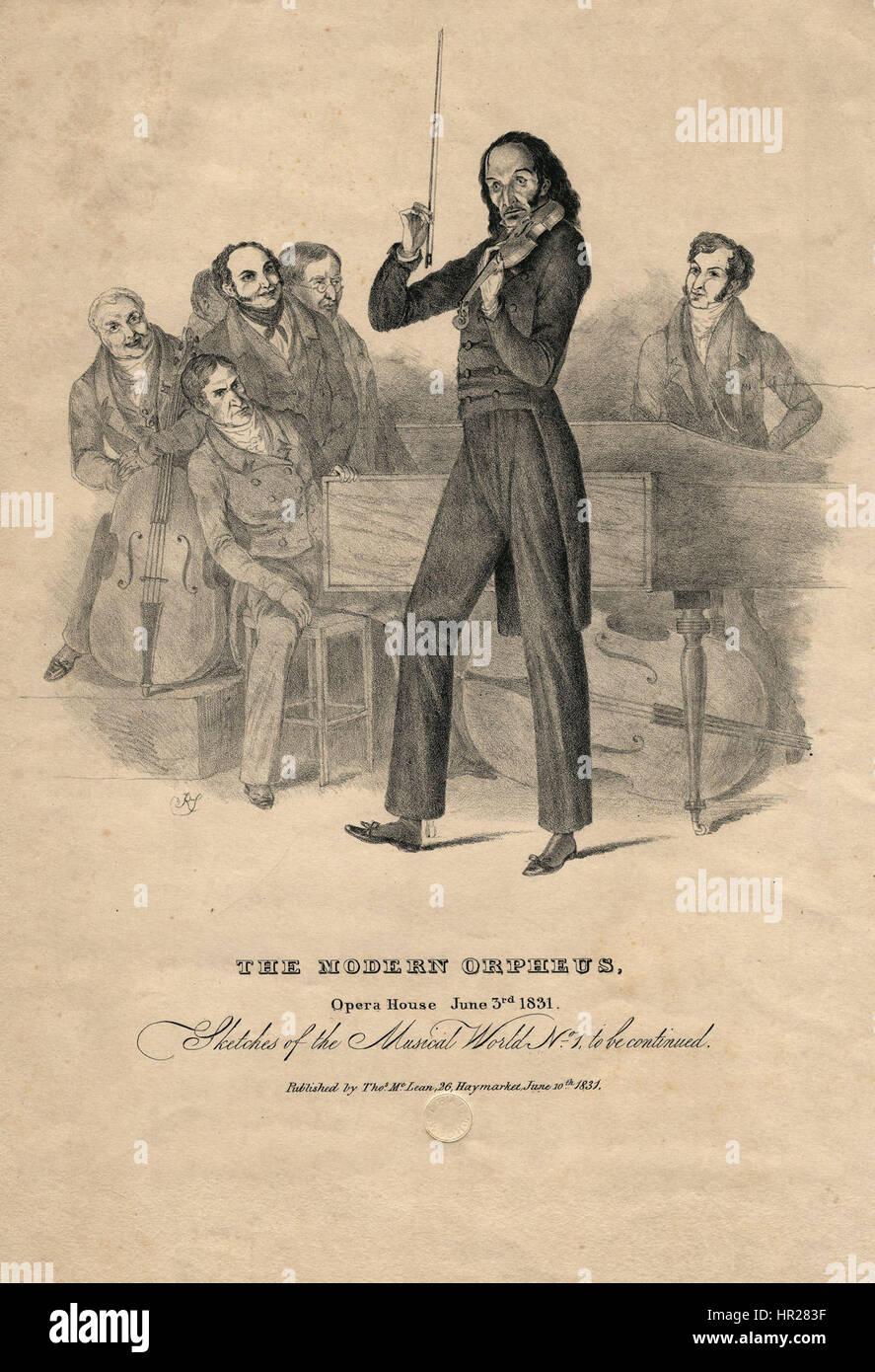 Nicolo Paganini by Richard James Lane - Stock Image