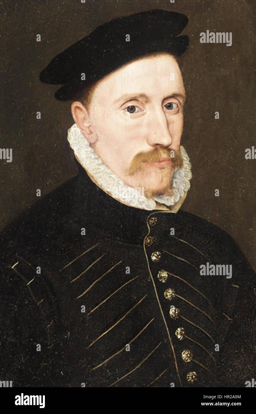 Portrait of Gentleman, Probably Sir Thomas Gresham - Stock Image