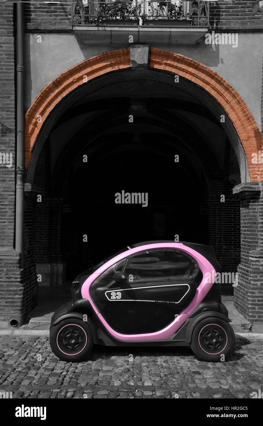 A Twizy Renault electric car in Montauban, south western France Stock Photo