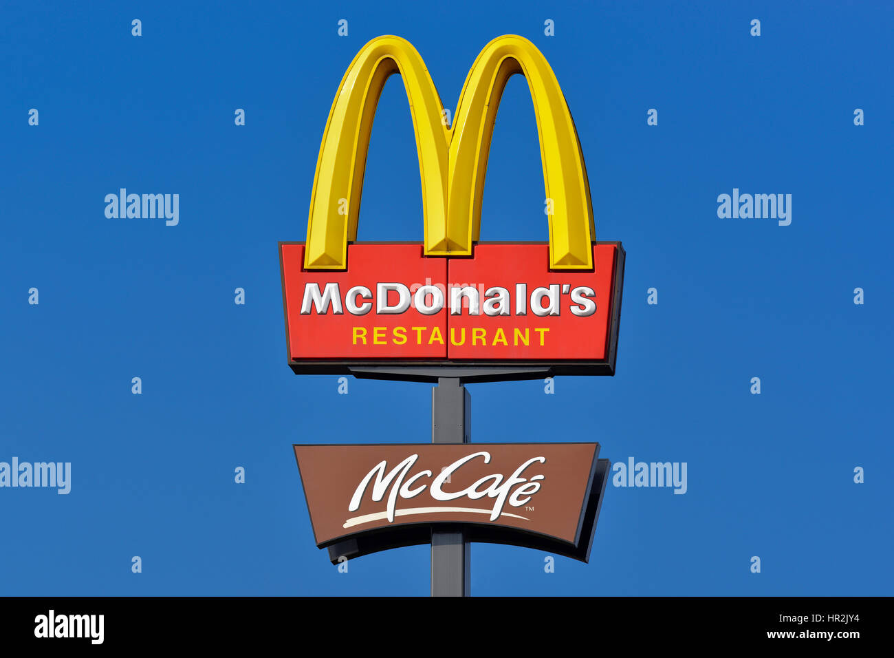 McDonalds Sign - Stock Image
