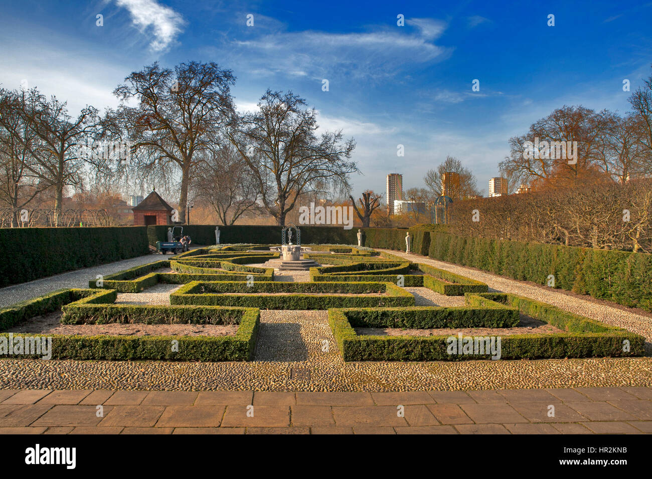 The formal Queen\'s Garden: 17th century style garden situated behind ...