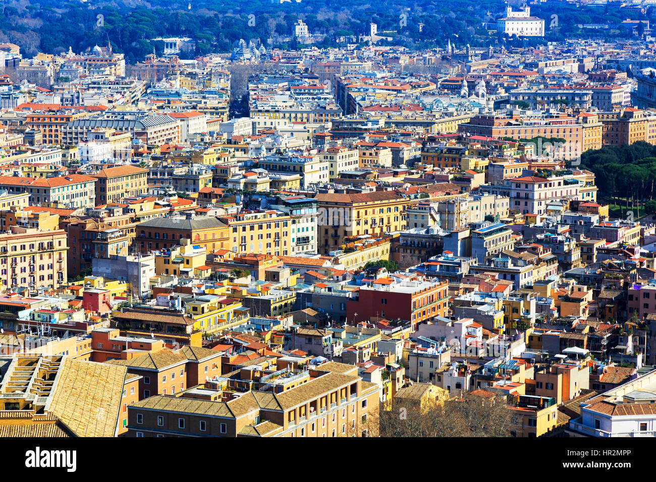 Skyline of Rome city, Italy - Stock Image