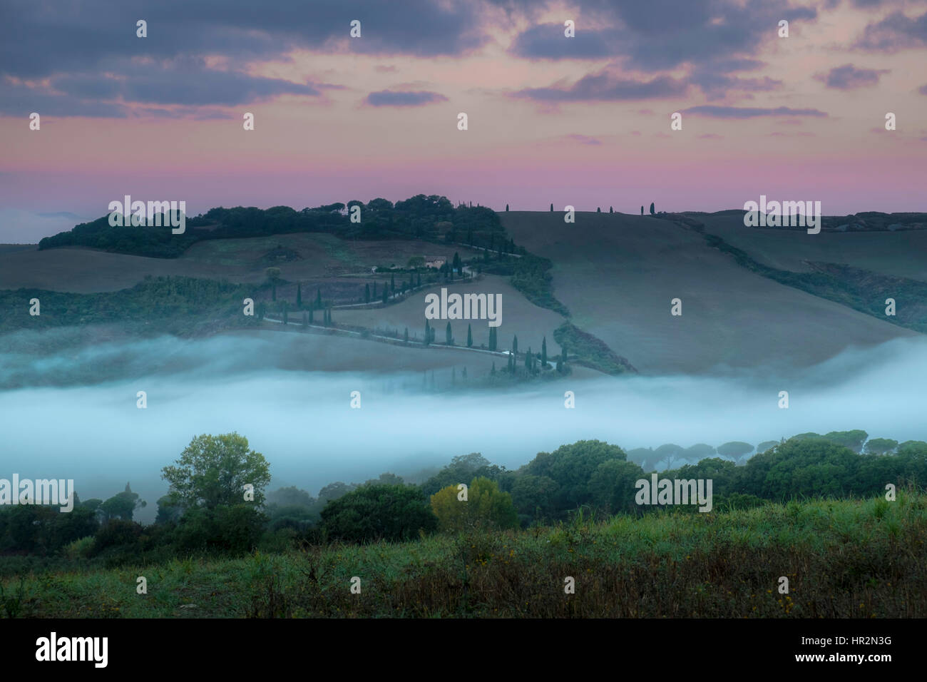 La Foce at sunrising - Stock Image