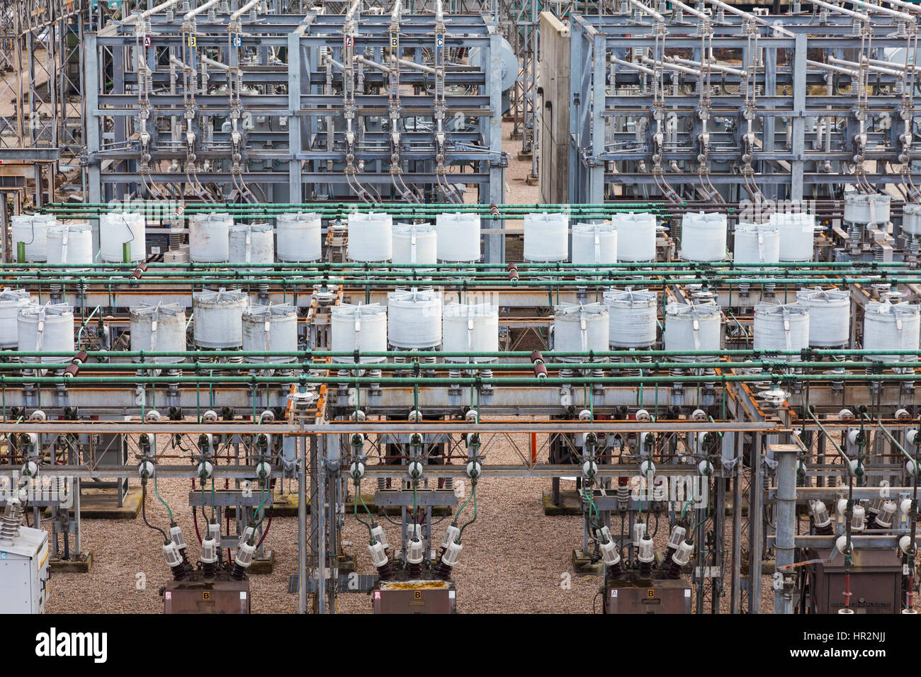 Electrical sub-station abstract - Stock Image
