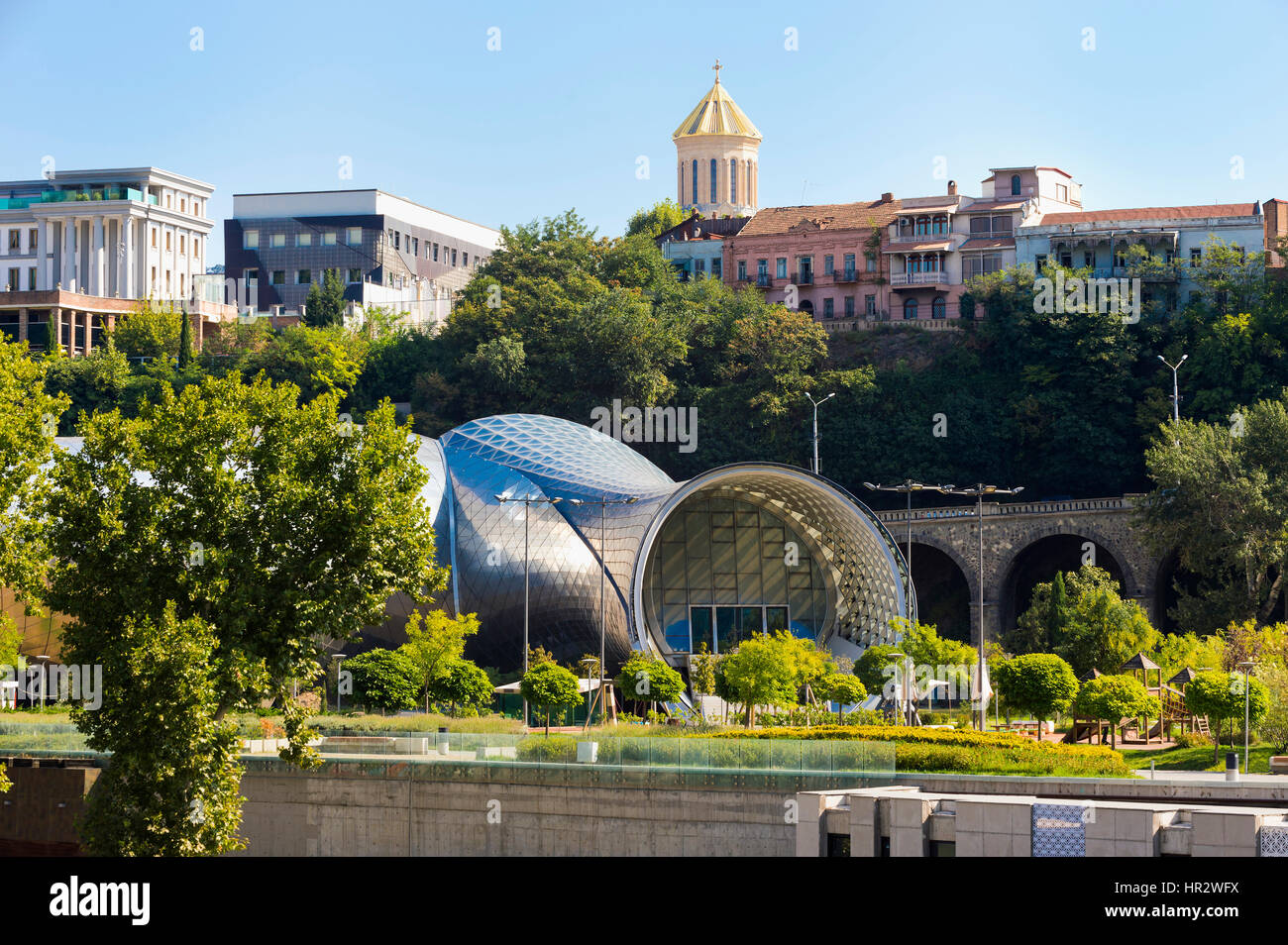 Concert Hall and Exhibition Centre, Presidential Palace, Rike Park, Tbilisi, Georgia, Caucasus, Middle East, Asia - Stock Image