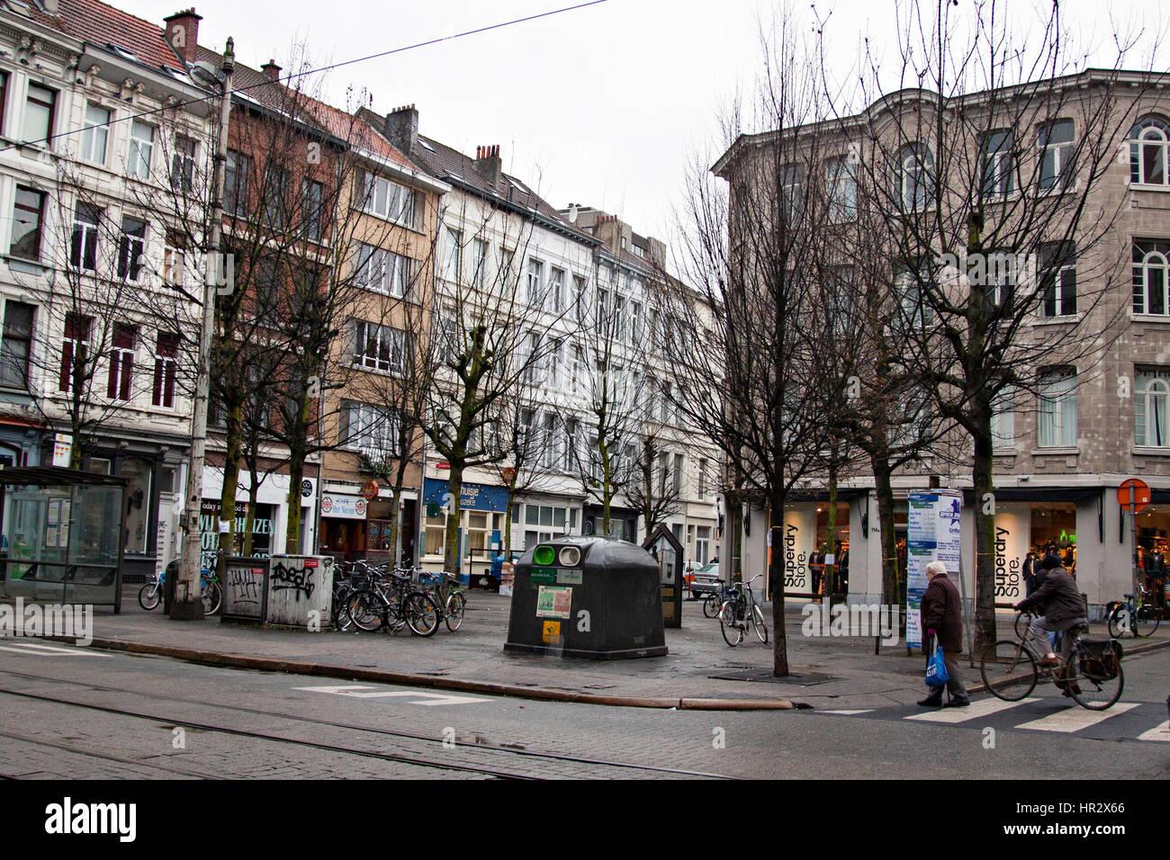 Old Town of  Antwerpen, Belgium Stock Photo