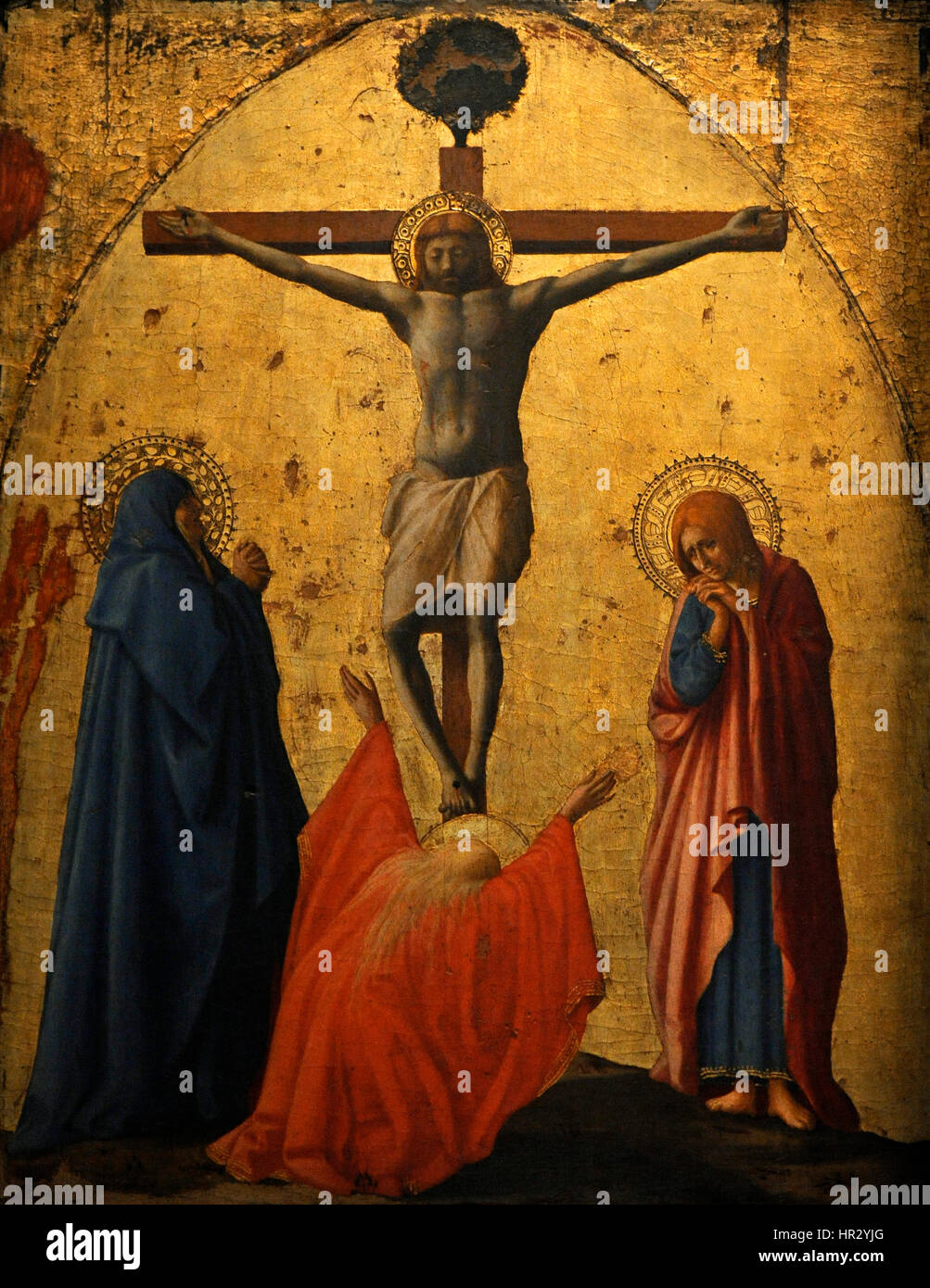 Masaccio, Tommaso di ser Giovanni di Mone Cassai, called (1401-1428).  Italian painter. Crucifixion, 1426. National Museum of Capodimonte. Naples.  Italy.