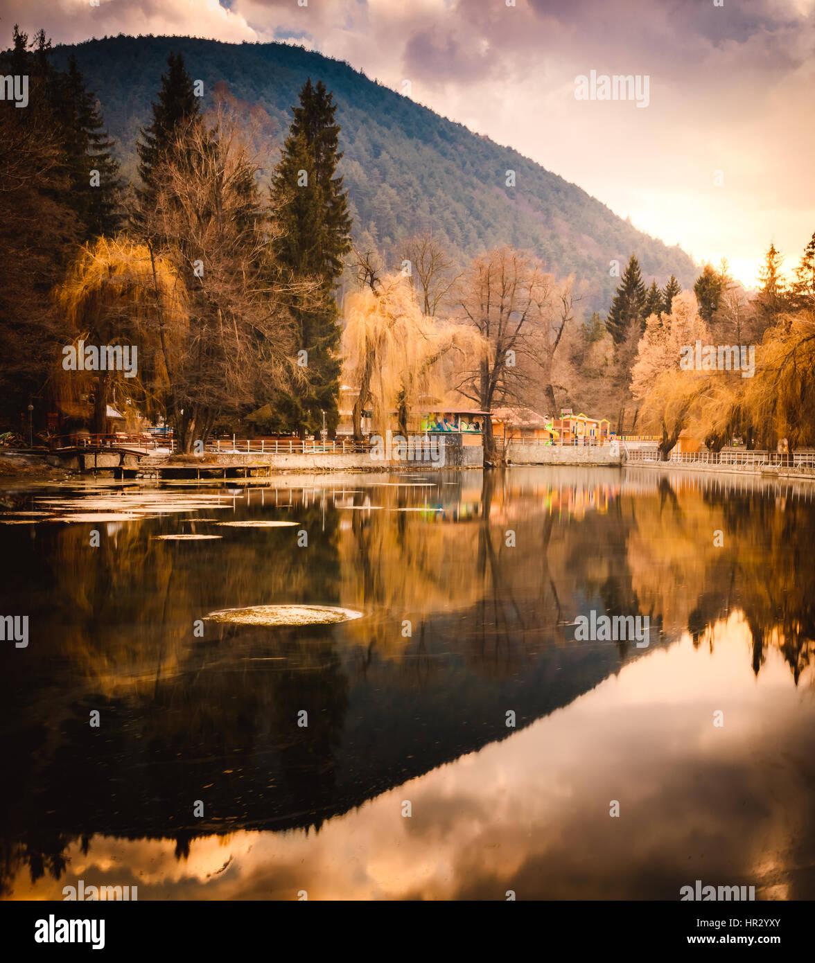 Velingrad - spa capital of Balkans, Rhodope Mountains, Bulgaria - Stock Image