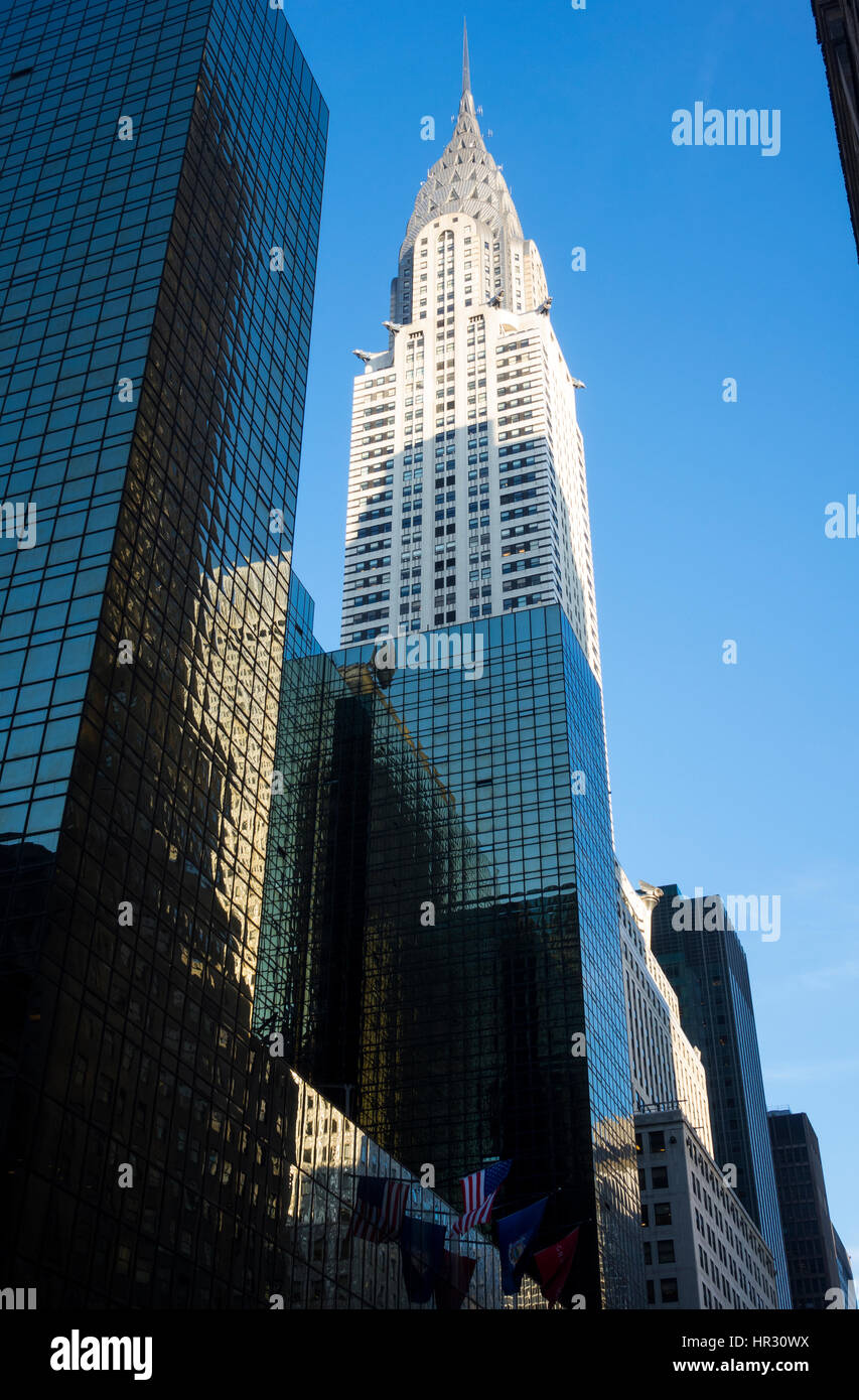 The Chrysler Building on 42nd Street in New York City - Stock Image