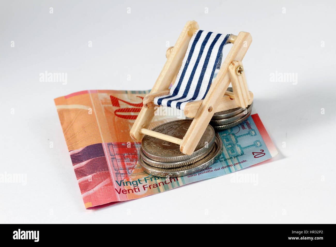 Urlaubageld Franken - Stock Image