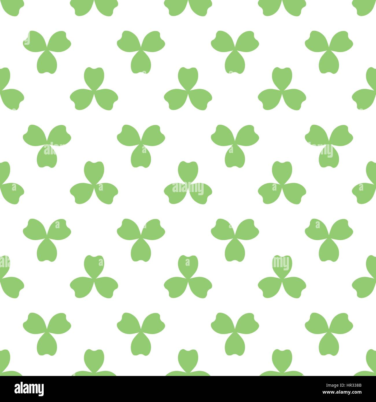 Green clover with three leaves. St Patricks Day seamless pattern. Vector tileable design element. Saint Patrick - Stock Vector