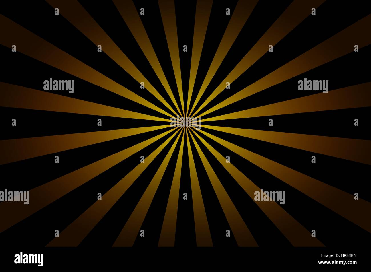 Striped black and yellow abstract background - Stock Image