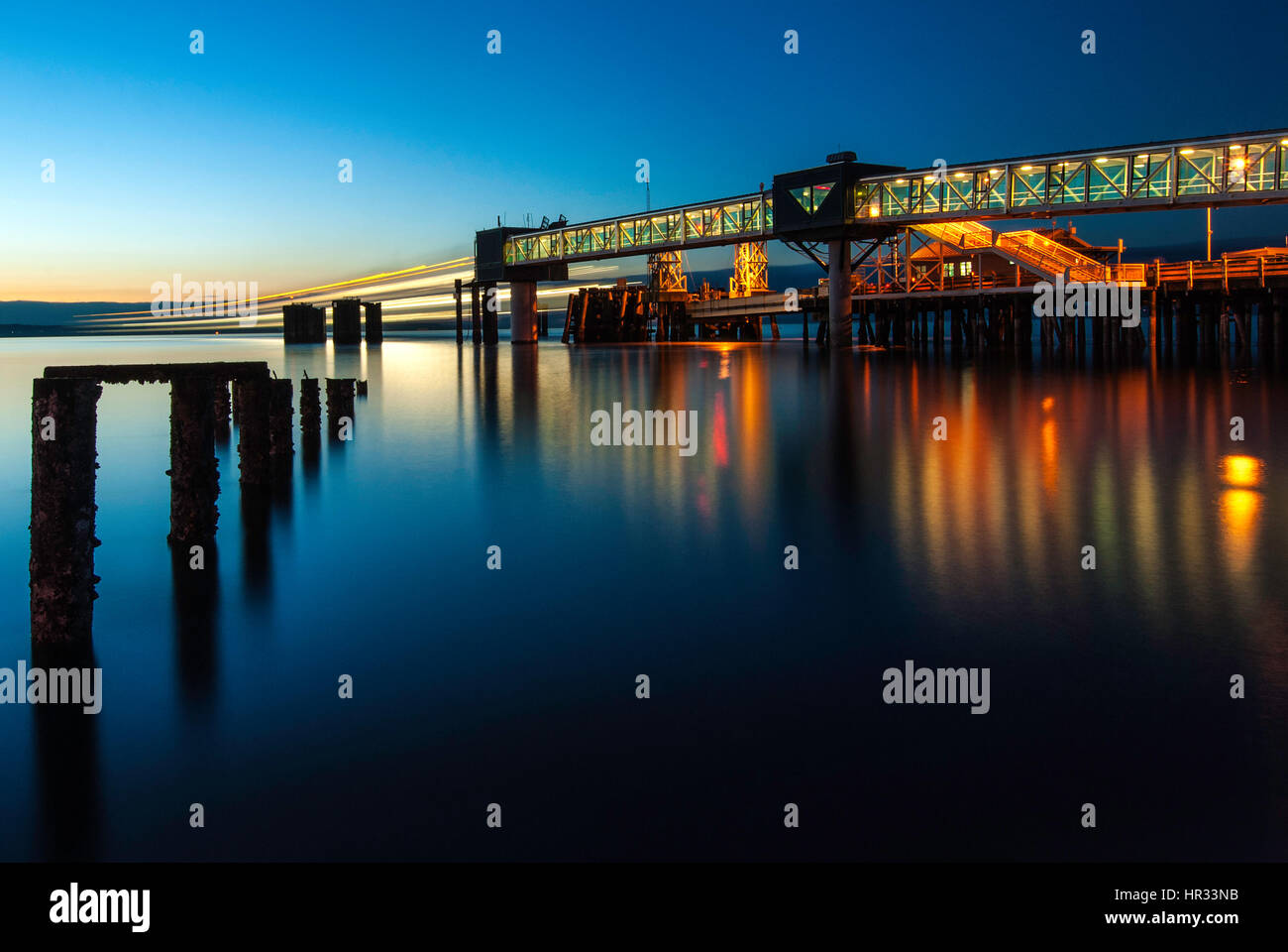 Ferry Ride Terminal in Kingston, Washington. - Stock Image