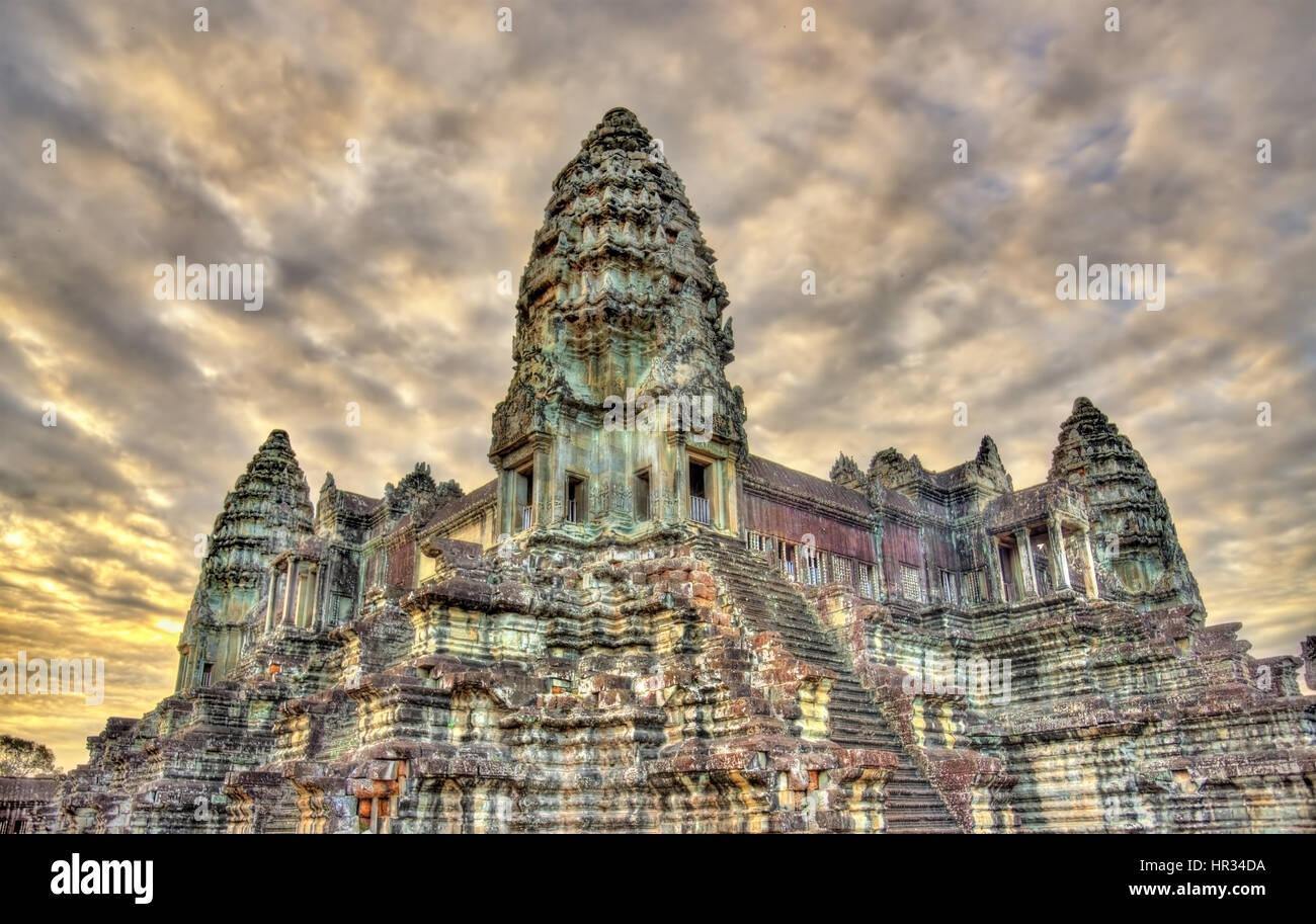 Bakan, the central sanctuary of Angkor Wat - Siem reap, Cambodia - Stock Image