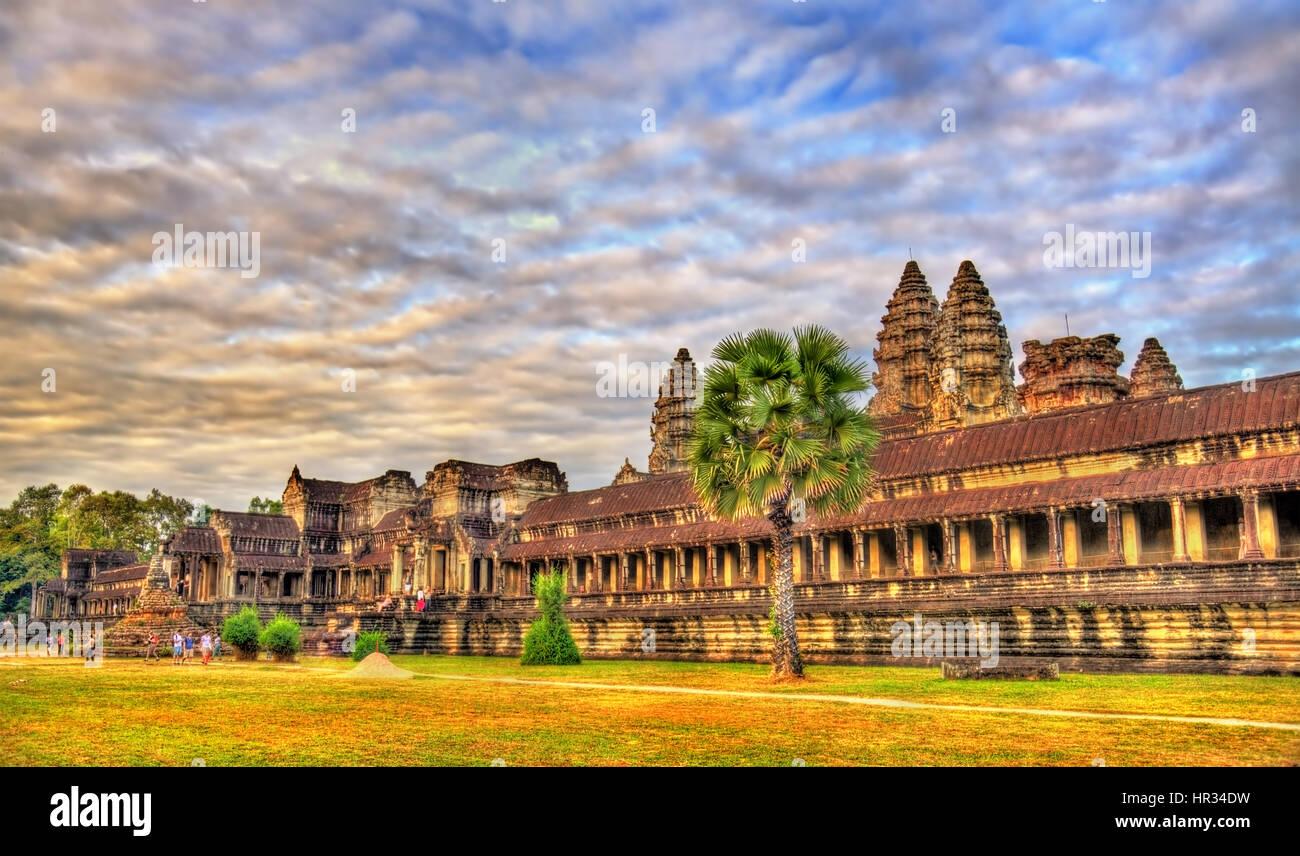 Angkor Wat Main Temple at Siem reap, Cambodia - Stock Image