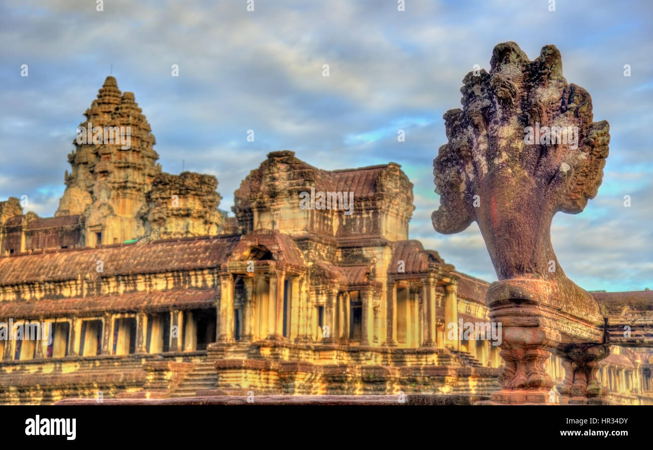 Angkor Wat Main Temple at Siem reap, Cambodia - Stock Image