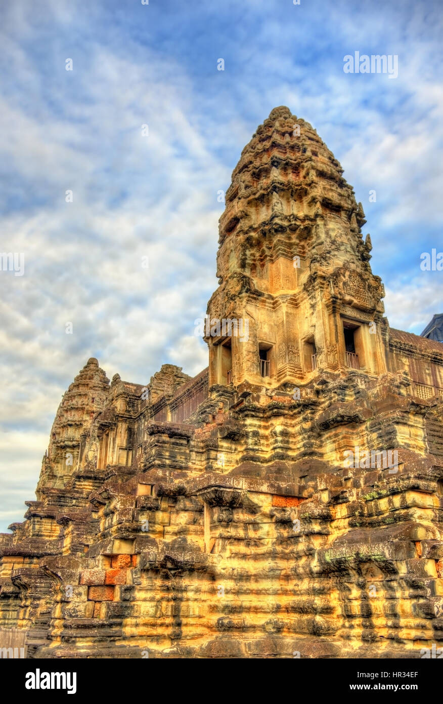 Bakan, the central sanctuary of Angkor Wat - Siem reap, Cambodia - Stock Image