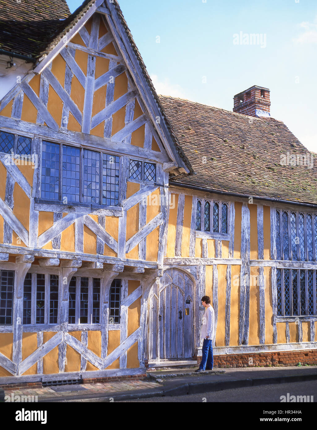 15th century Little Hall, Market Square, Lavenham, Suffolk, England, United Kingdom - Stock Image