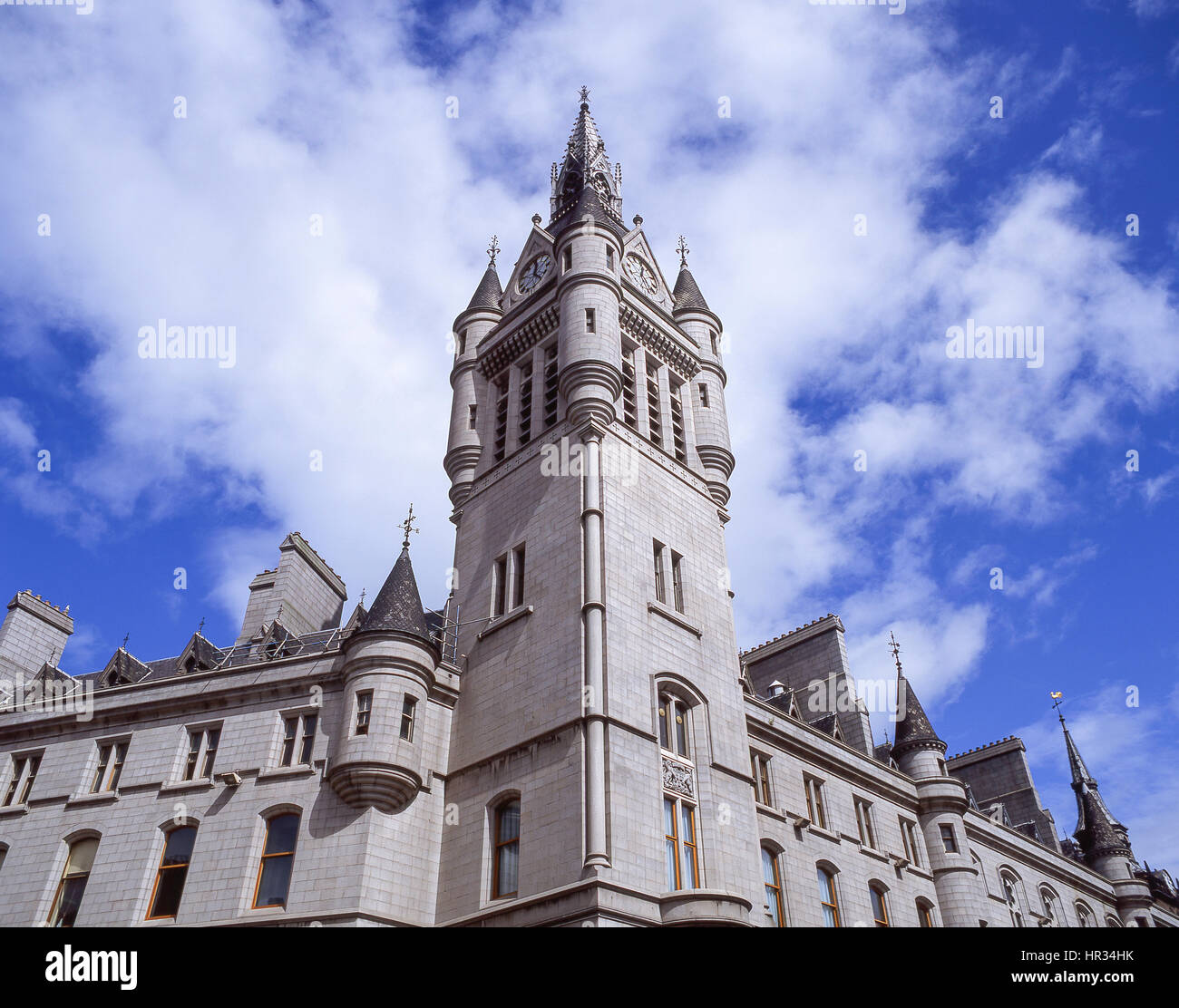 West Tower of the New Town House, Union Street, Aberdeen City, Scotland, United Kingdom - Stock Image