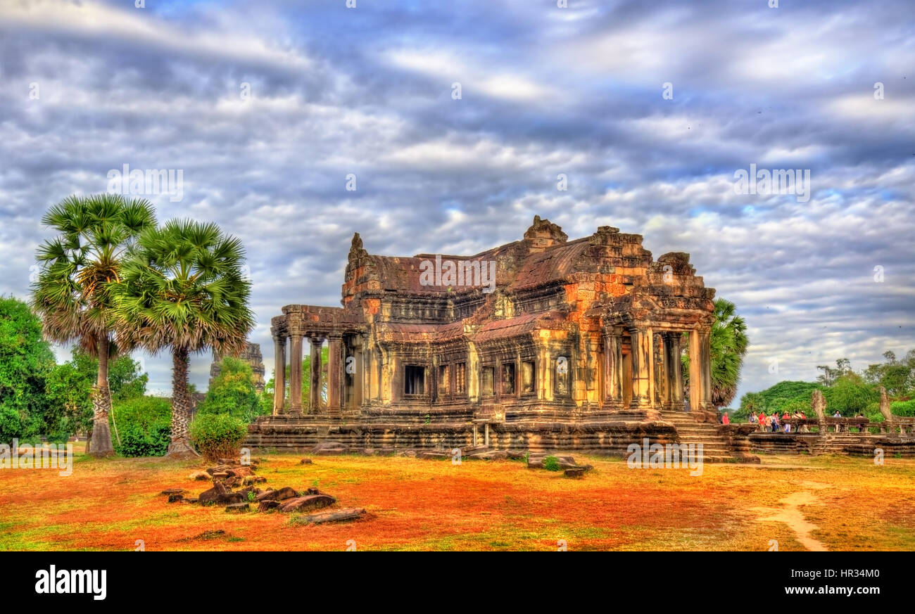 Ancient Library at Angkor Wat, Cambodia - Stock Image