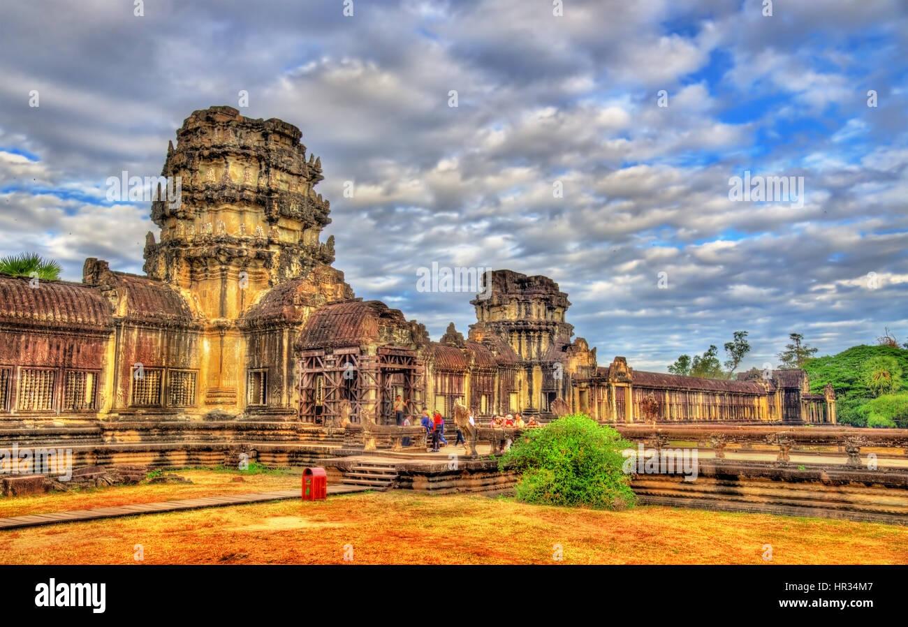 Angkor Wat Temple at Siem reap, Cambodia - Stock Image