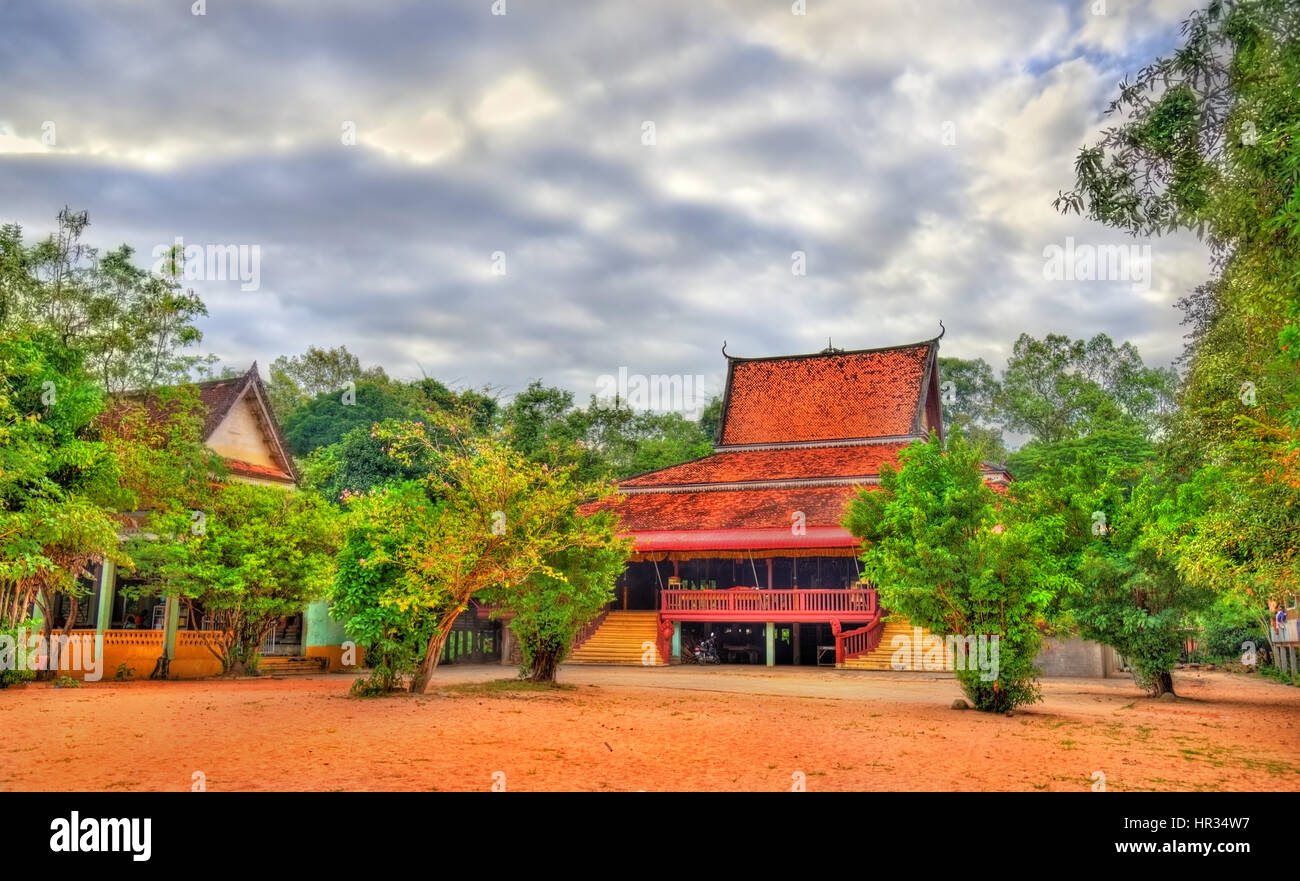 Functioning Temple at Angkor Wat in Siem Reap, Cambodia - Stock Image