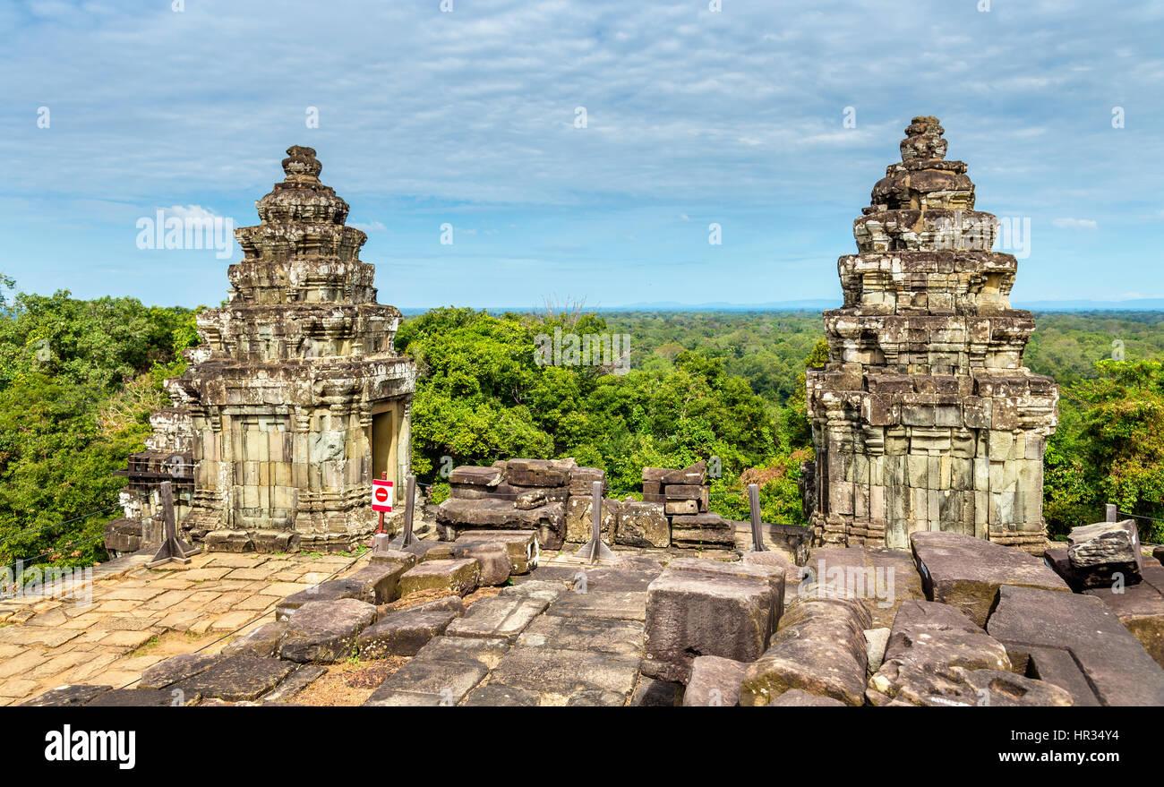 Phnom Bakheng, a Hindu and Buddhist temple at Angkor Wat - Cambodia - Stock Image