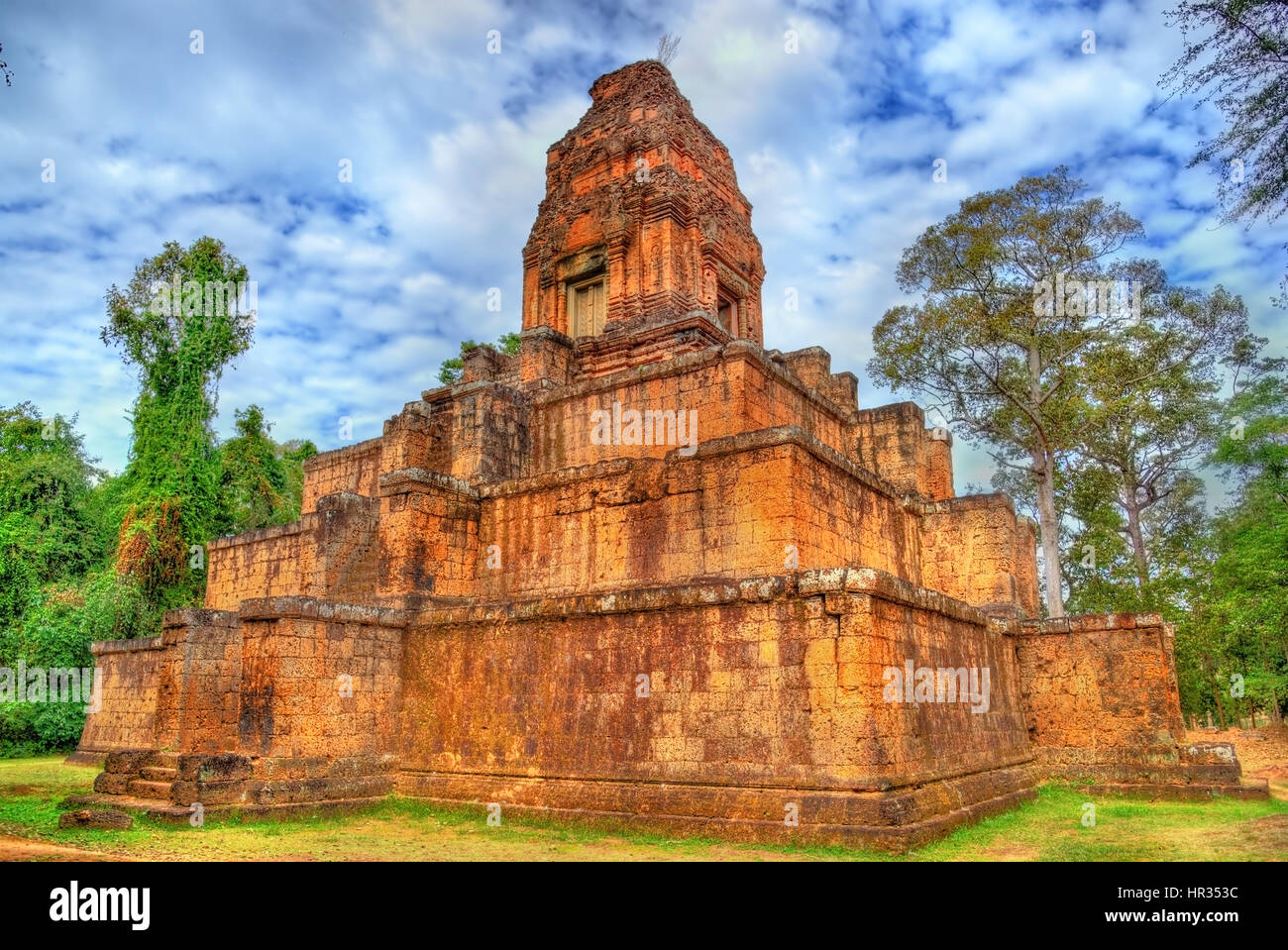 Baksei Chamkrong, a Hindu temple in the Angkor complex - Cambodia - Stock Image