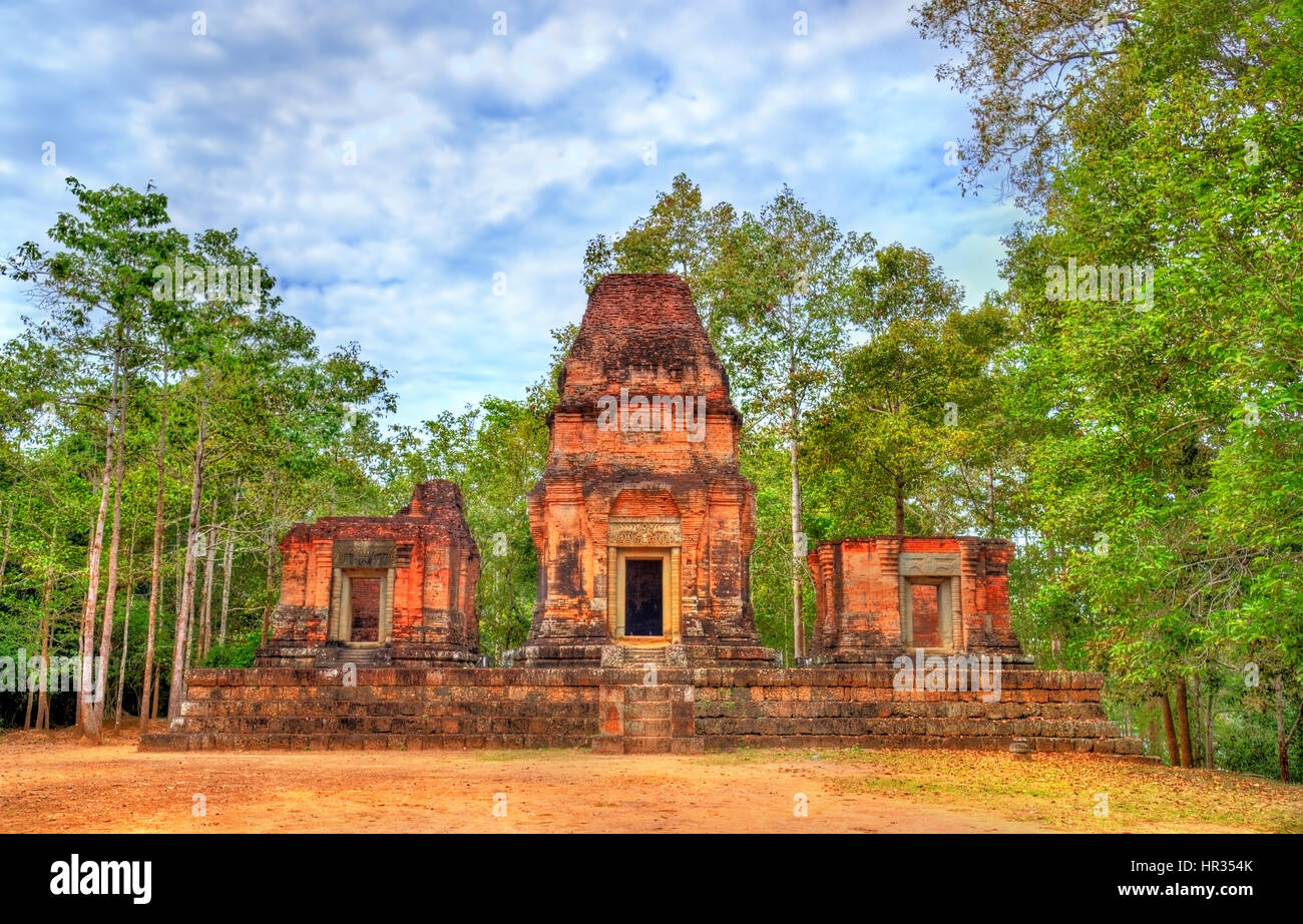 Prasat Bei temple at the Angkor complex in Cambodia - Stock Image