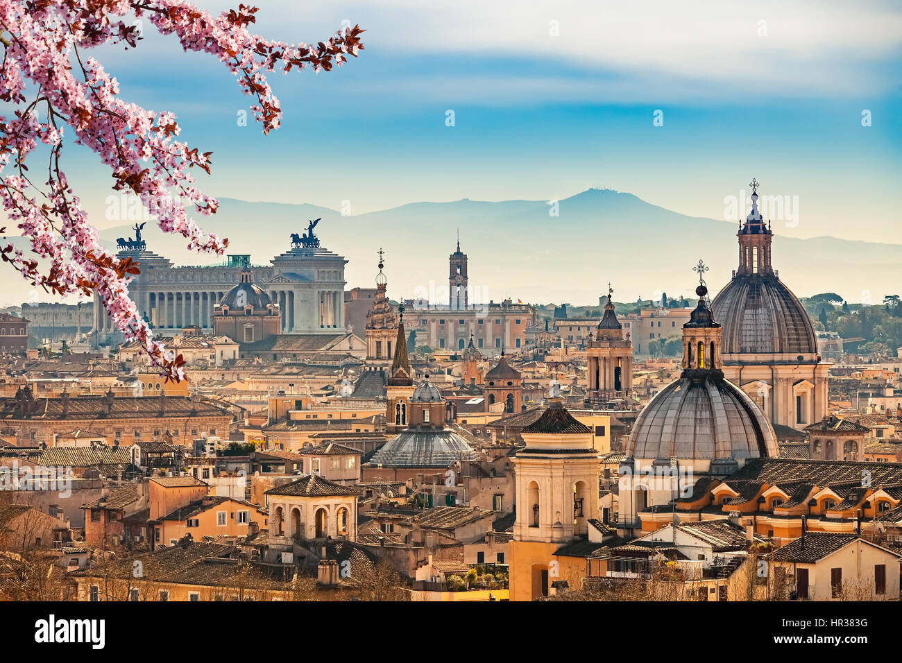 Aerial view on Rome, Italy - Stock Image