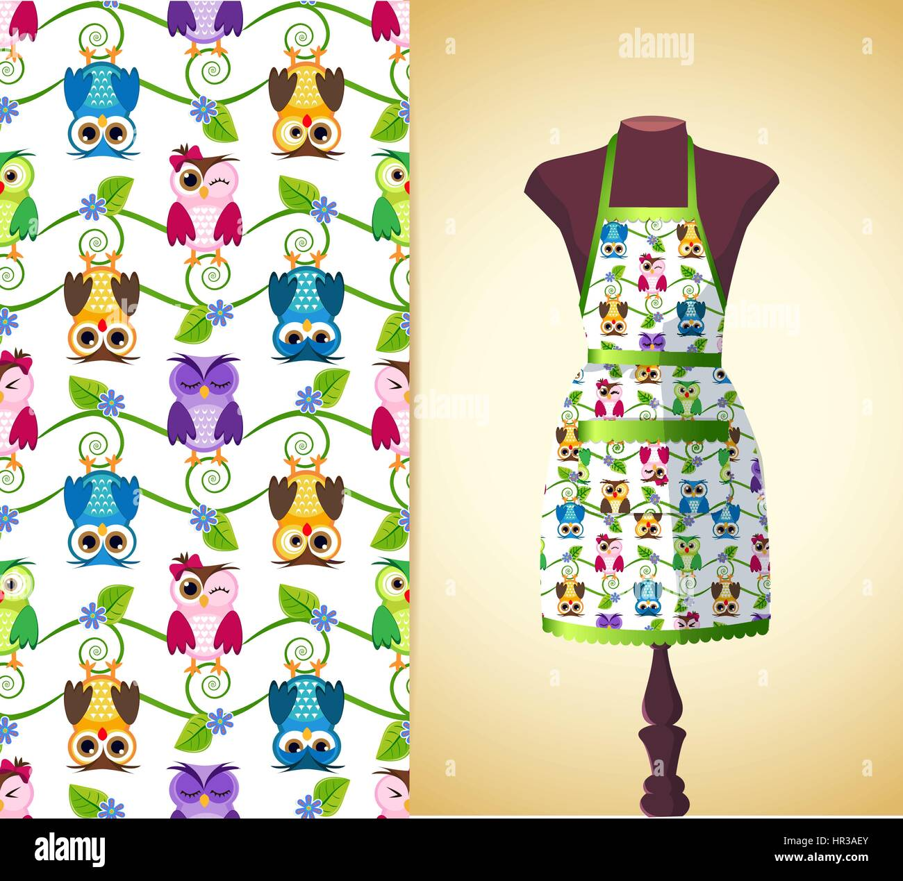Vector Fashion Illustration, Womenu0027s Kitchen Apron On A ...