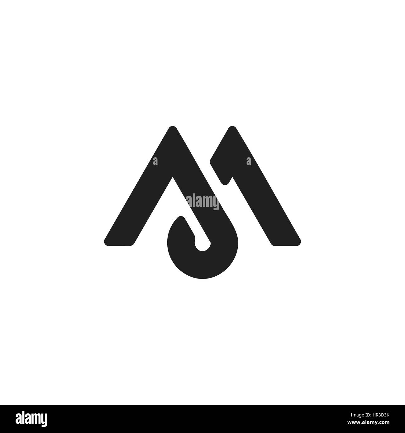 Stylish illustration of letter M that can be used for a logo