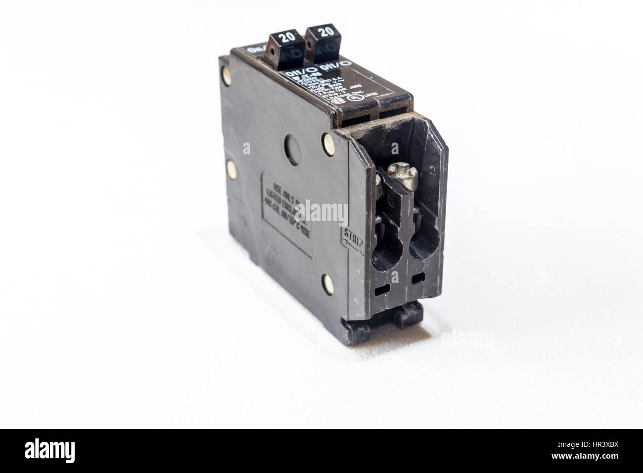 An Eaton double 20 amp Circuit Breaker USA Stock Photo: 134696238 ...