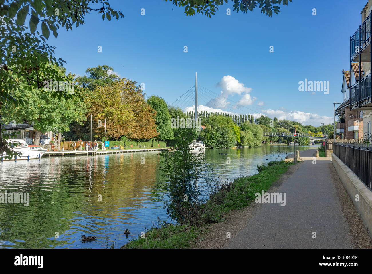 The River Thames at Reading in Berkshire - Stock Image