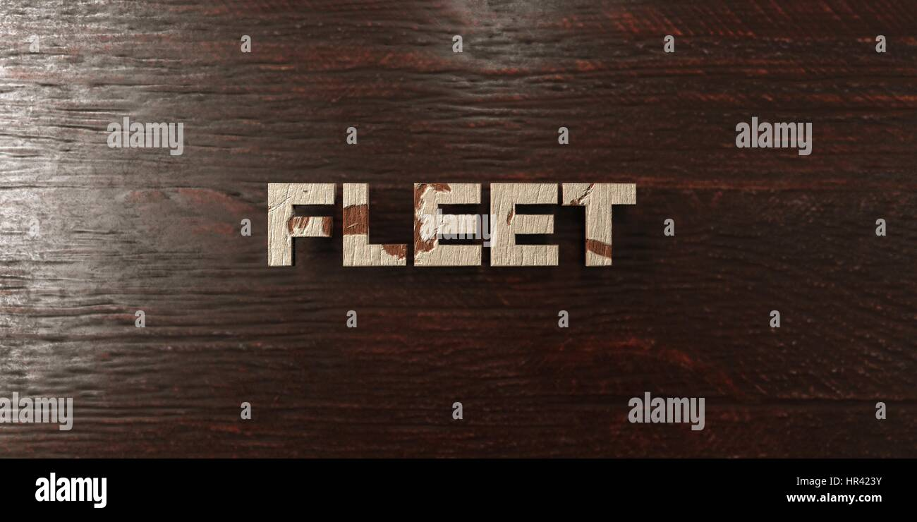 Fleet - grungy wooden headline on Maple  - 3D rendered royalty free stock image. This image can be used for an online - Stock Image