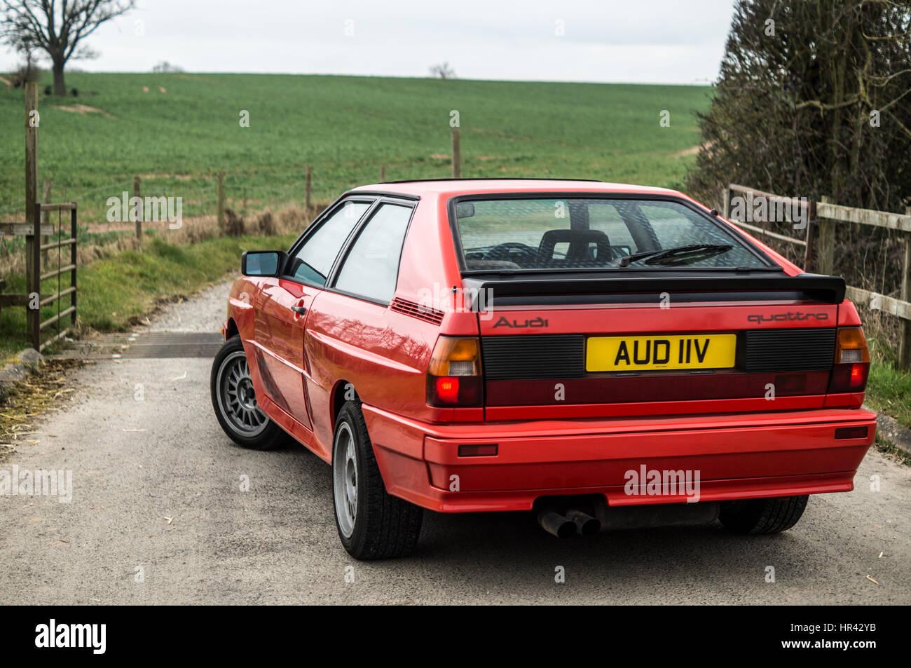 Audi UR Quattro in red. - Stock Image