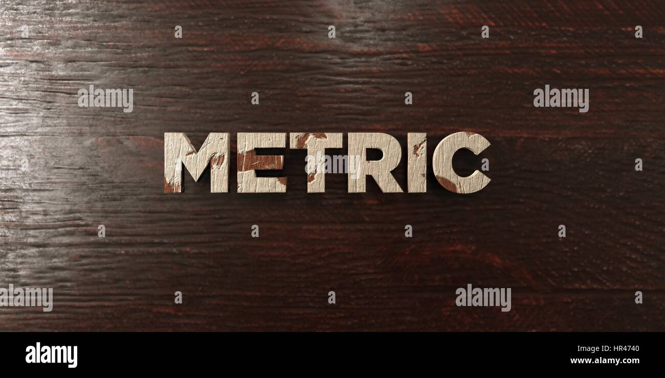Metric - grungy wooden headline on Maple  - 3D rendered royalty free stock image. This image can be used for an - Stock Image