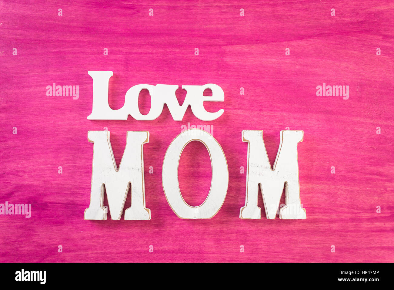 White Letters Mom On Painted Stock Photos  White Letters Mom On