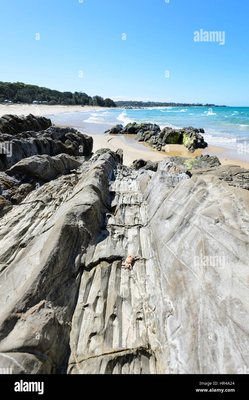 Amazing rock formations at Potato Point, New South Wales, Australia - Stock Image