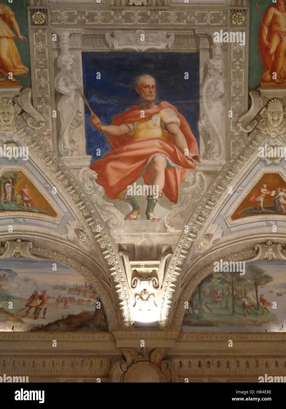 Palazzo della Meridiana Salone Cambiaso Figura 3a Stock Photo